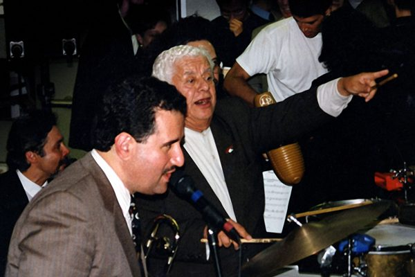 Demetrios Kastaris, Tito Puente, September 30, 1997 Architect and Designer's Building, NYC (photo credit Ito Rodriguez)