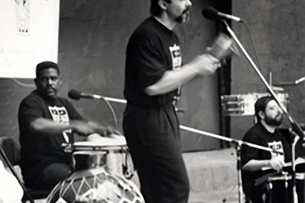 left to right: Victor Lewis, Angel Rodriguez, Victor Rendón, Seuffert Bandshell, Woodhaven Queens, New York, June 26, 1993 (photo credit Kathy Izzo)