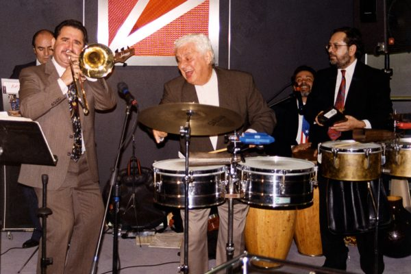 Freddy Zanella, Demetrios Kastaris, Tito Puente, Angel Rodriguez, Victor Rendón, September 30, 1997 Architect and Designer's Building, NYC (photo credit Ito Rodriguez)