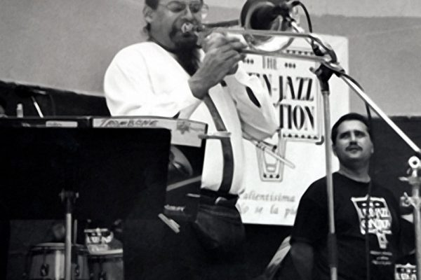Steve Turre, Demetrios Kastaris, June 26, 1993, Seuffert Bandshell, Woodhaven Queens, New York, photo credit Kathy Izzo)