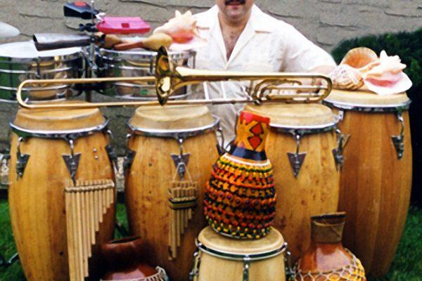 Demetrios Kastaris at home in Queens New York, July 1999 (photo credit Kathryn Kastaris)