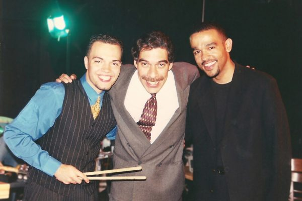 Left to Right: holder of the Guinness Book of World Records for fastest drummer since 2002, Jotan Afanador, Grammy winning flautist Dave Valentin, Latin Jazz pianist Wesley Reynoso, at the Point Community Center in the South Bronx, NY, photo credit, Demetrios Kastaris