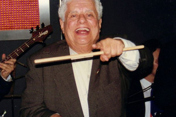 Master Timbalero, Latin music Icon, Multi Grammy Award Winner, Tito Puente, performs as a special guest with the Latin Jazz Coalition, Architects and Designer's Building, September 1997, photo credit, Ito Rodriguez